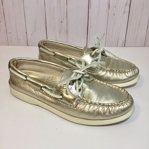 Sperry Platinum Gold A/O Boat Shoes 6